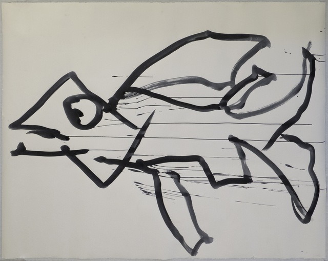 , 'Reanimation performance drawing (Fish),' 2014, Wilkinson