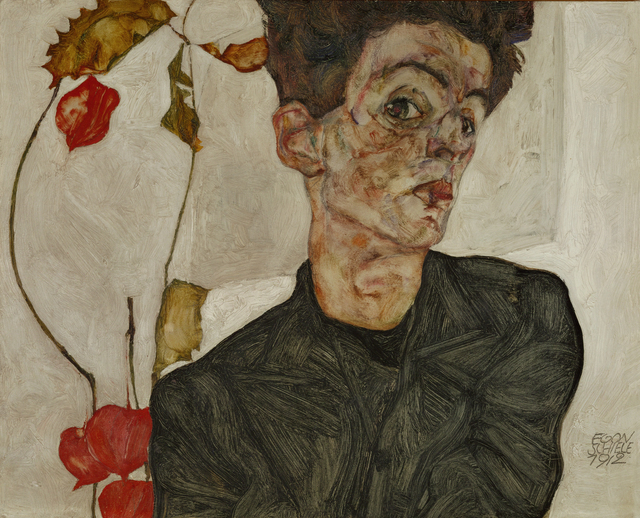 Egon Schiele, 'Self-portrait with Chinese Lantern and Fruits', 1912, Erich Lessing Culture and Fine Arts Archive