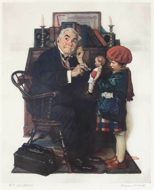 Norman Rockwell, 'DOCTOR AND DOLL', Doyle