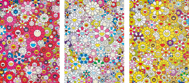 Takashi Murakami, 'An homage to Monopink 1960 A; An Homage to Yves Klein Multicolor C; and An homage to Monogold 1960 A', 2012, Phillips