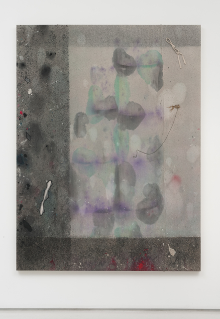 , 'Untitled Drop Cloth Painting (RAGTIME AND RAFFIA),' 2014, Roberts Projects