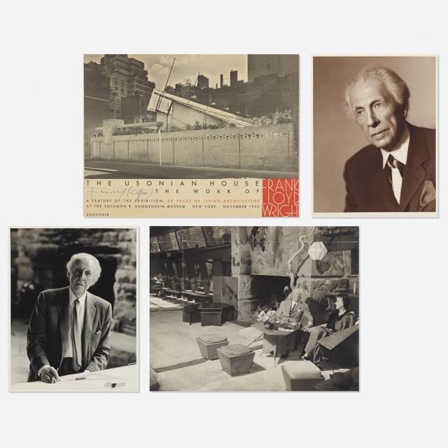 'collection of Frank Lloyd Wright photographs', 1953, Photography, Gelatin silver print, offset color lithograph, platinum/palladium print, Rago/Wright