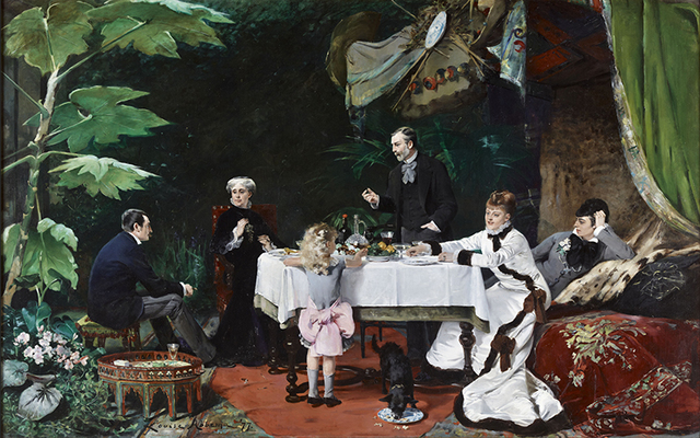 , 'Lunch in the Greenhouse,' 1877, American Federation of Arts