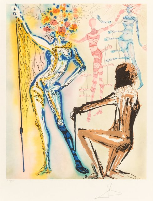 Salvador Dalí, 'The Ballet of the Flowers', 1980, Print, Lithograph in colors on on Japon paper, Heritage Auctions