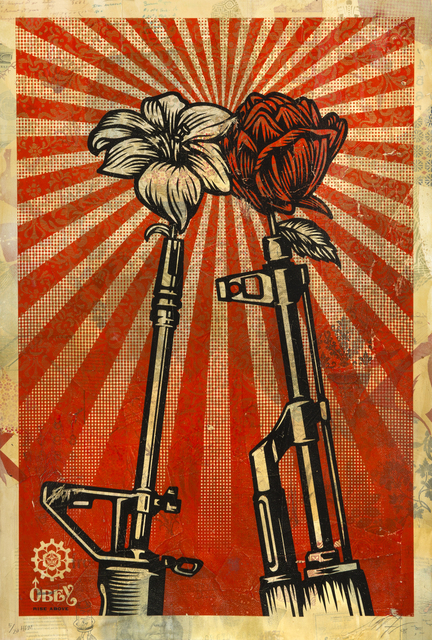 Shepard Fairey (OBEY), 'M16 Vs Ak 47', 2006, Julien's Auctions