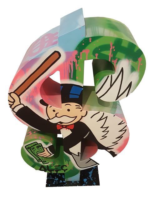 , 'Dollar Monopoly with a bat,' 2017, Eden Fine Art