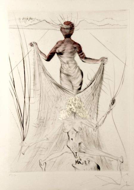 Salvador Dalí, 'La Venus aux Fourrures Woman Holding Veil', 1968, Print, Etching, Fine Art Acquisitions Dali