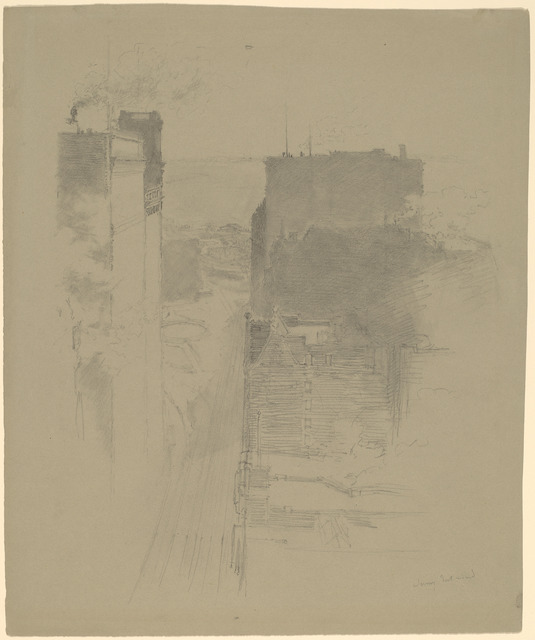 Stanford White, 'The Battery, New York', ca. 1900, Drawing, Collage or other Work on Paper, Graphite on green wove paper, National Gallery of Art, Washington, D.C.