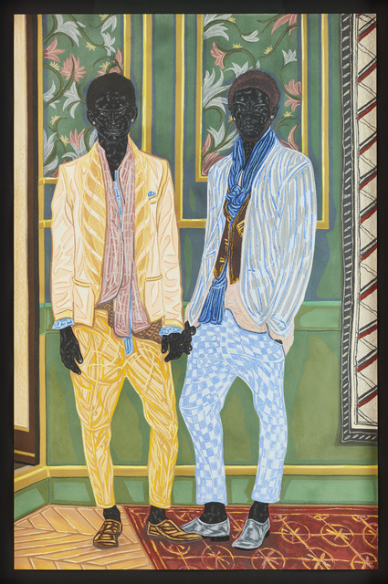 Toyin Ojih Odutola, 'Newlyweds on Holiday', 2016, Jack Shainman Gallery