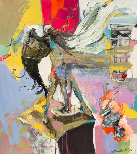 Frank David Valdés, 'El aqui y el ahora /The here and now', 2020, Painting, Mixed media on canvas, ArteMorfosis - Cuban Art Platform