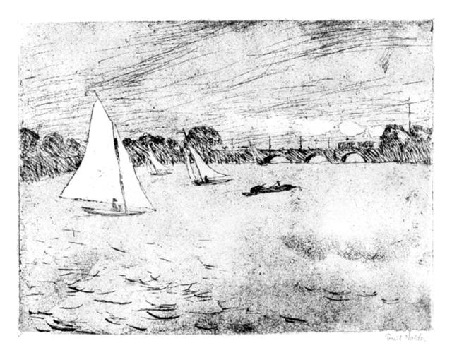 , 'Hamurg, Alsterbassin,' 1910, Galerie Herold