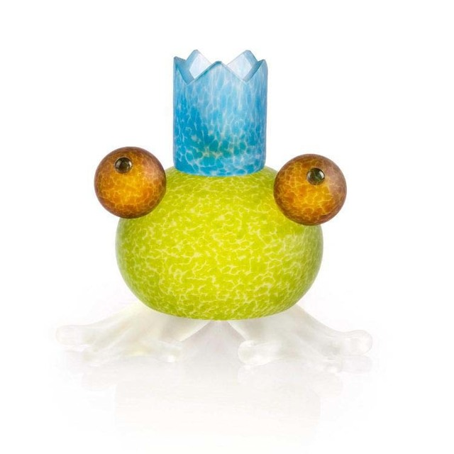 Borowski Glass, 'Frosch/Frog Candleholder: 24-01-56 in Lime Green', 2018, Art Leaders Gallery