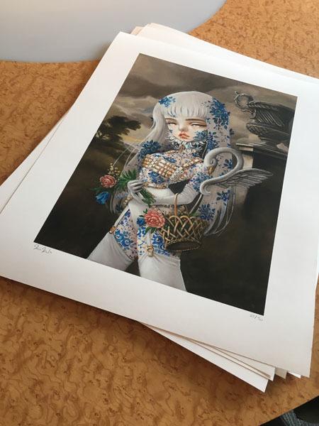 "Kukula, '""Odette"" print', 2017, Print, Giclee on Rives BFK paper, Haven Gallery"