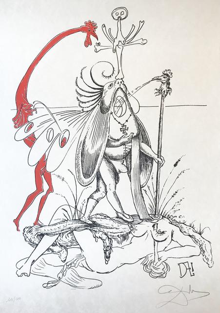 Salvador Dalí, 'Les Songes Drolatiques De Pantagruel', 1973, Print, Original lithograph of gouache with original pochoir coloring in black pencil on Japanese paper, BOCCARA ART