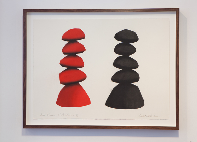 , 'Red Column, Black Column,' 2014, Joanna Bryant & Julian Page
