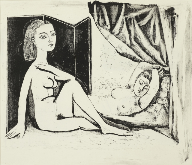 Pablo Picasso, 'Les Deux Femmes nues, State 8a, 5th January 1946', 1946, Cristea Roberts Gallery