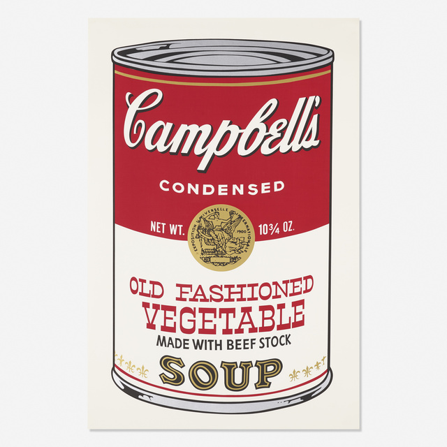 Andy Warhol, 'Old Fashioned Vegetable from Campbell's Soup II', 1969, Rago