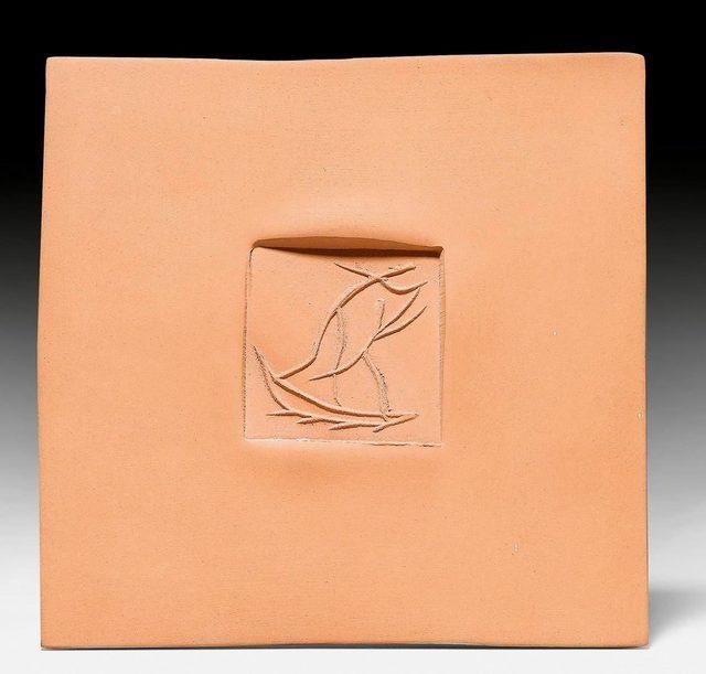 Pablo Picasso, 'Carré aux danseurs', c. 1971, Design/Decorative Art, Tile. Red ceramic., Koller Auctions