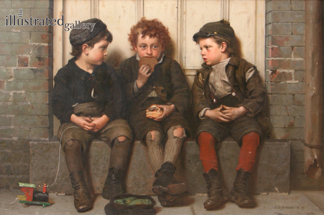 John George Brown, 'The Monopolist', 1885, The Illustrated Gallery