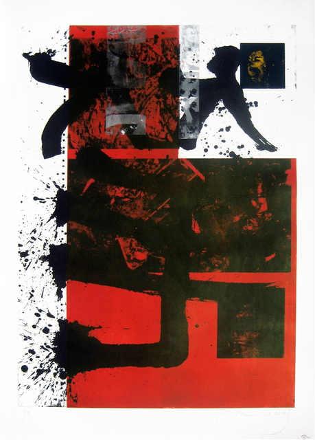Jamal Abdul Rahim, 'Black & Red', 2013, Print, Etching on Paper, Orient Gallery