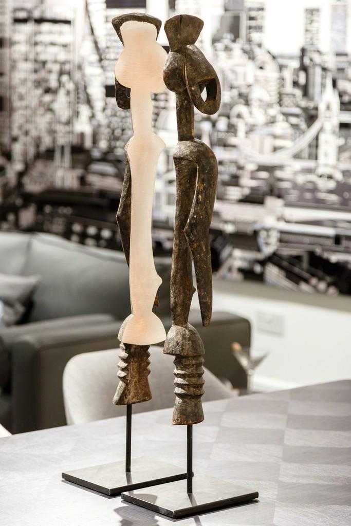 Installation shot: work by Niyi Olagunju at Linley, Belgravia