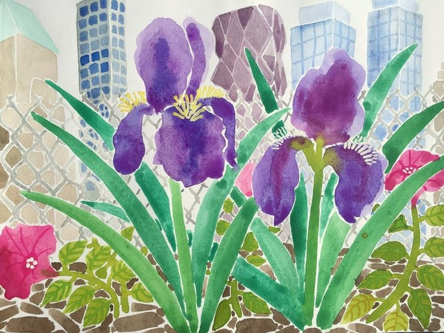 , 'Irises and Skyscrapers,' 2016, Project: ARTspace
