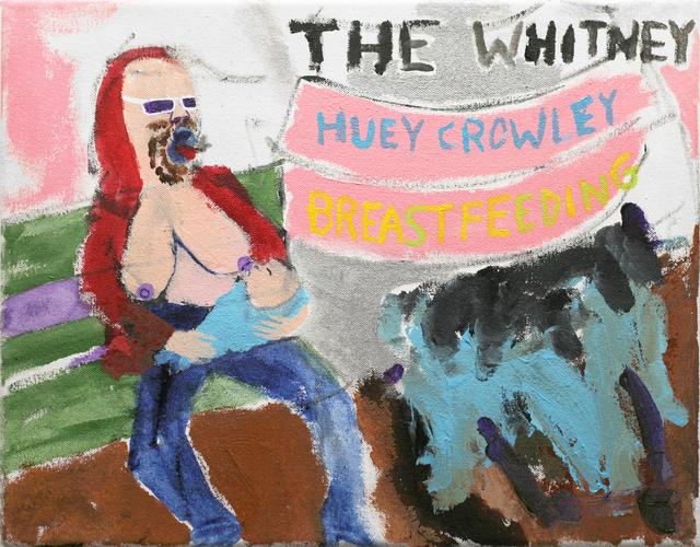 Huey Crowley, 'My Imaginary show at the Whitney where I have boobs and breastfeed a child', 2018, Tatjana Pieters