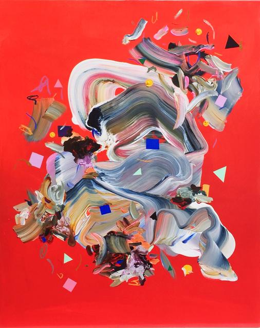 Janna Watson, 'Fly Horsie!', 2021, Painting, Mixed media on panel, Bau-Xi Gallery