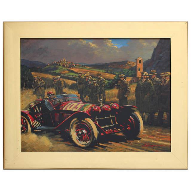 , 'Tazio Nuvolari - Mille Miglia 1931   Alfa Romeo   Automotive   Car,' 2008, Whyte Fine Art