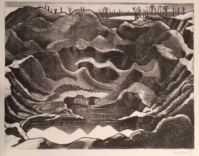, 'THE MINE CRATER, HILL 60, YPRES SALIENT,' 1917, Gerrish Fine Art
