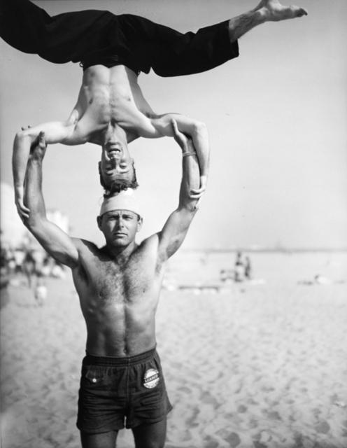 , 'Headstand, Muscle Beach Santa Monica, CA,' 1954, Bruce Silverstein Gallery