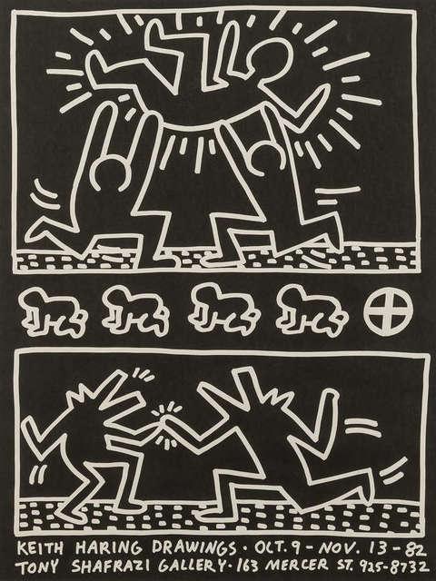 Keith Haring, 'Tony Shafrazi Gallery Poster', 1982, Rhodes