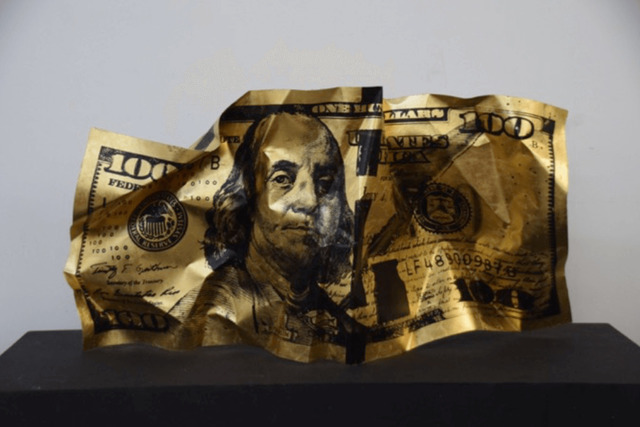 , 'GOLD CRUMPLE,' 2017, Marcel Katz Art