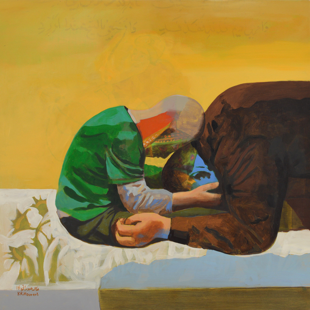 Khaled Hourani, 'Ahmad and His Father', 2018, Painting, Acrylic on canvas, Zawyeh Gallery