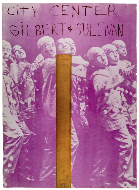 """Jim Dine, 'Hand painted City Center, New York SIGNED """"Gilbert and Sullivan""""', 1968, Posters, Unique, hand painted offset lithograph with metallic foil, Petersburg Press"""