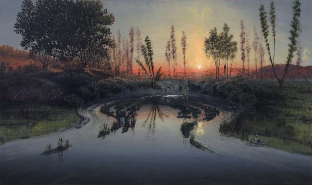 , 'Hogsmill River Oxbow, Flooded: For Bridget (Mass MoCA # 281),' 2018, Marlborough London