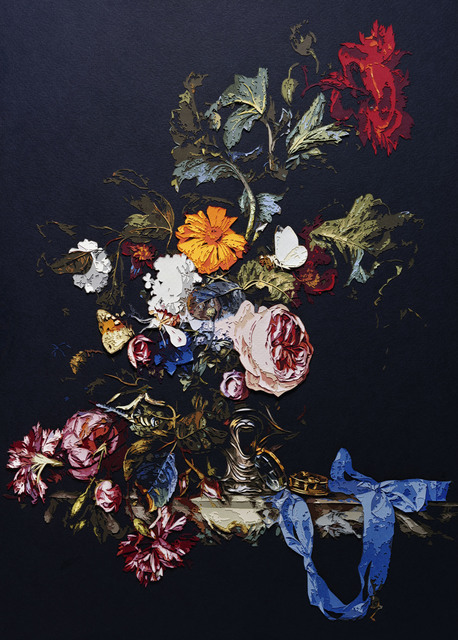 , 'Vase of Flowers with Pocket Watch, after Willen Van Aelst,' 2010, galerie nichido / nca | nichido contemporary art