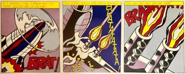 Roy Lichtenstein, 'Vintage Offset Lithograph Triptych Roy Lichtenstein Pop Art Stedelijk Print', 20th Century, Lions Gallery