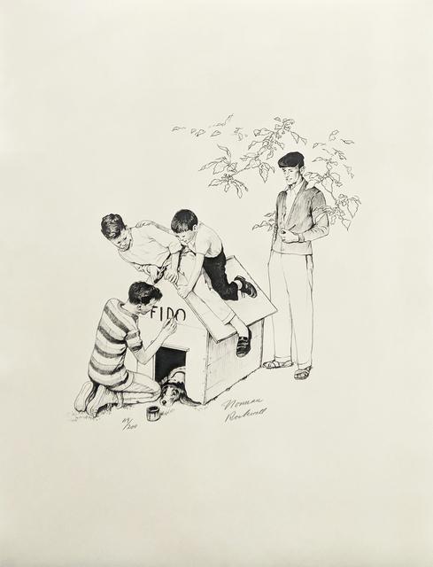 Norman Rockwell, 'FIDO'S HOUSE', 1973, Gallery Art