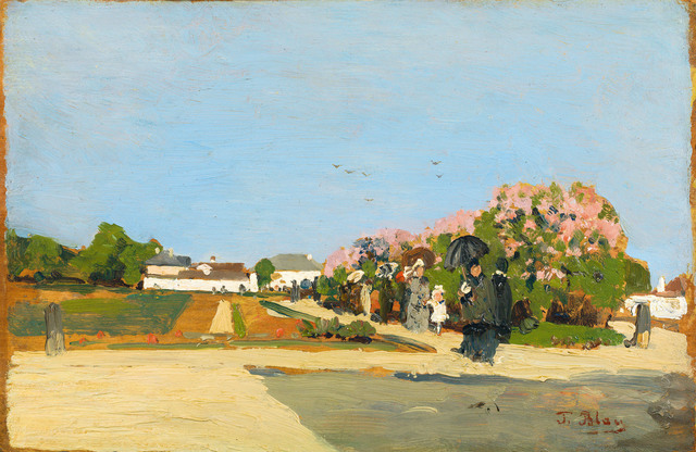 , 'At the park of castle Nymphenburg,' 1884, Galerie Kovacek & Zetter