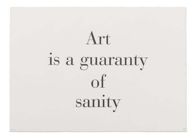 ", '""Art is a Guaranty of Sanity"" from ""What is the Shape of this Problem?"",' 1999, Burning in Water"