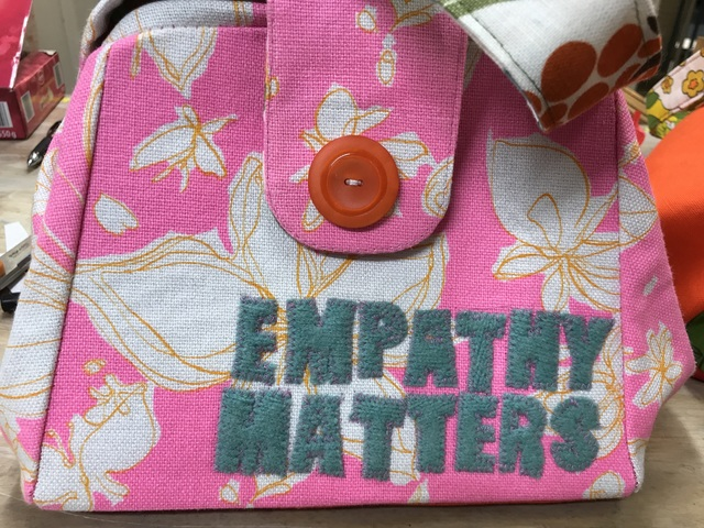 Jenae Michelle, 'Empathy Matters', 2017, Textile Arts, Fiber Art. Handbag with Vintage Fabric, Zenith Gallery