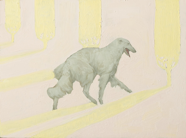 , 'White Dog Pale Landscape,' 2019, James May Gallery