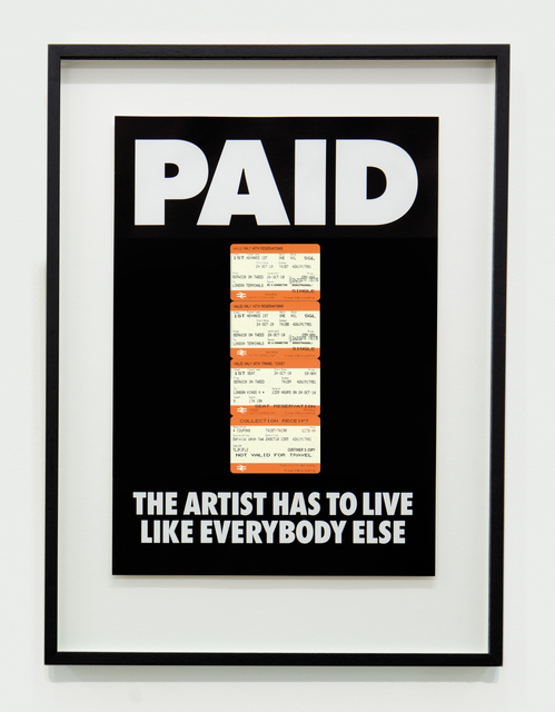 Billy Apple, 'PAID: The Artist Has to Live Like Everybody Else, 4 x British Rail tickets: £219 Kings X London to Berwick on Tweed ', 1987-2018, The Mayor Gallery