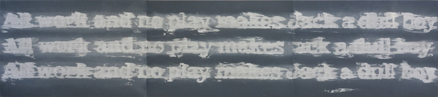 , 'ALL WORK AND NO PLAY,' 2011, Paulson Fontaine Press