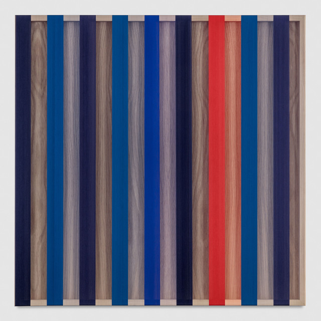 , 'Untitled (Red and Blue banded hovering thread),' 2017, PRAZ-DELAVALLADE