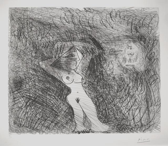 Pablo Picasso, 'Peintre Peignant sur son modèle (Painter Painting his Model)', 1968, Print, Etching, R. S. Johnson Fine Art
