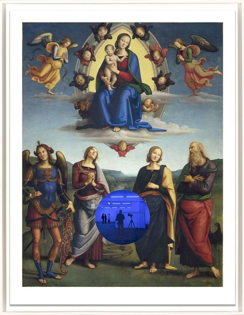 , 'Gazing Ball (Perugino Madonna and Child with Four Saints),' 2017, Two Palms