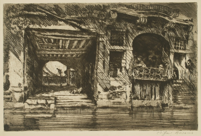 Clifford Isaac Addams, 'Venice, Gondolier Cafe # 3', ca. 1914, Private Collection, NY