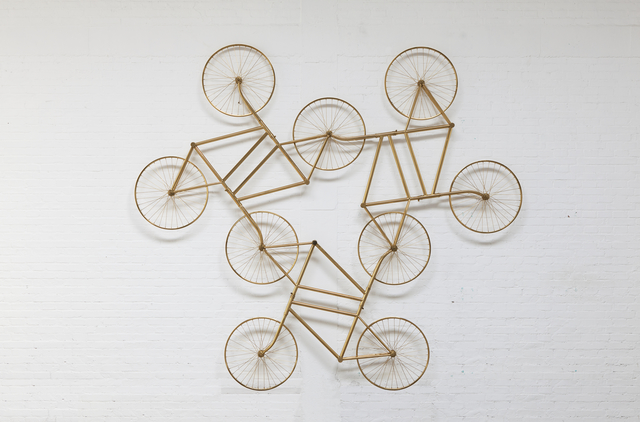 , 'Forever (Stainless Steel Bicycles in Gilding) 3 Pairs,' 2013, Galerie Urs Meile